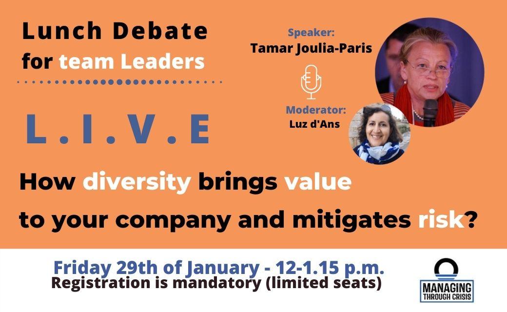 workshop diversity live debate team leaders Orise mitigating risk management
